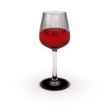 Wine glass. A wine glass isolated over white, with a soft shadow Stock Photos