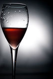 Wine glass. Wine pouring in an  glass Stock Photo