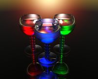 Wine glass in 3D Royalty Free Stock Image