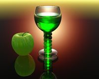 Wine glass in 3D Stock Image
