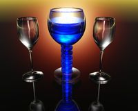 Wine glass in 3D Stock Images