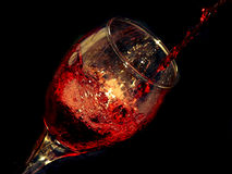 Wine and glass royalty free stock image