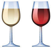 Wine glass. No mesh or transparency, blend and gradient only Royalty Free Stock Image