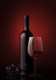 Wine glass. Perfect still life rendering devoted to red wine Royalty Free Stock Photo