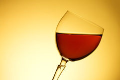 Wine in the glass Stock Images