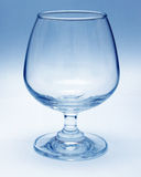Wine glass. A Wine glass with blue background royalty free stock images