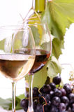 Wine in glass. And grape Stock Photography