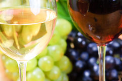 Wine in glass. With grape Royalty Free Stock Photos