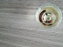 Wine glass from above Royalty Free Stock Photo