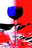 Wine Glass Abstract Background Royalty Free Stock Photography