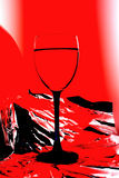 Wine Glass Abstract Background Stock Photo