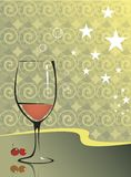 Wine Glass And Berries Royalty Free Stock Photos