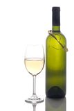 Wine Glass And Wine Bottle Royalty Free Stock Photo