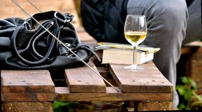 Wine,glass,bag,chair,party Stock Photo
