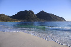 Wine Glass Bay, Australia. The famed Wine Glass Bay of Tasmania, Australia Stock Photo