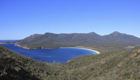 Wine Glass Bay. Wineglass Bay, along with Cradle Mountain, is recognised across the world as one of the most iconic destinations in Tasmania, Australia Royalty Free Stock Image