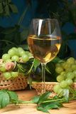 Wine glass with bottle Stock Photo