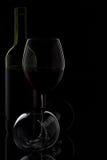 Wine glass & bottle Stock Photography
