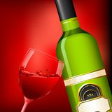 Wine Glass and Bottle Royalty Free Stock Photo