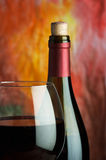 Wine, glass and the bottle Royalty Free Stock Photos