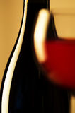 Wine glass and bottle Royalty Free Stock Images
