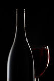 Wine glass and bottle Stock Photography