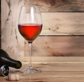 Wine glass and Bottle Stock Photo