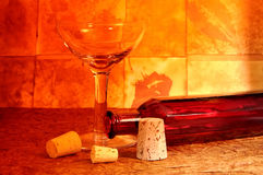 Wine Glass and Bottle royalty free stock photography