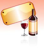 Wine Glass and bottle Stock Images
