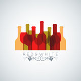 Wine glass and bottle abstract background Royalty Free Stock Images