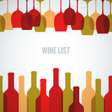 Wine glass bottle art background Stock Photography