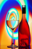 Wine glass & bottle background Royalty Free Stock Image