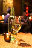 Wine candle restaurant Royalty Free Stock Photography
