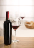 Wine glass and bottle still life Royalty Free Stock Photos