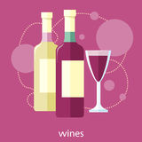 Wine glass and bottle Stock Photos