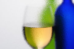 Wine Glass and Bottles Abstract Stock Image