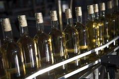Wine glass bottles Stock Image