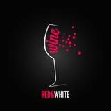Wine glass bubbles splash menu background Stock Photos