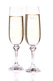 Wine glass with a champagne Royalty Free Stock Photography