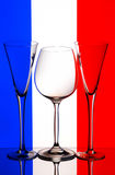 Wine glass & champagne flutes Stock Photos