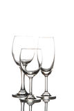 Wine glass and champagne glass Royalty Free Stock Images
