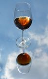 Wine glass, clouds and dreams Royalty Free Stock Photo