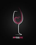 Wine glass concept background Stock Image