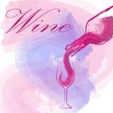 Wine glass concept menu design.  Stock Photography