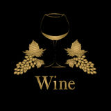 Wine glass concept menu design. Royalty Free Stock Images