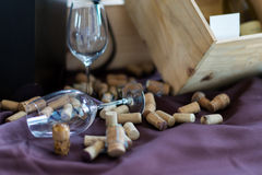 Wine glass cork Royalty Free Stock Image