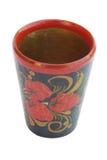 Wine-glass de madeira Imagem de Stock