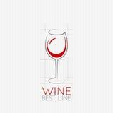 Wine glass design background Royalty Free Stock Photo