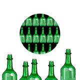 Wine glass design liquid alcohol bottle background winery full o Royalty Free Stock Image
