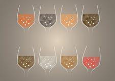 Wine glass design vector Royalty Free Stock Photos
